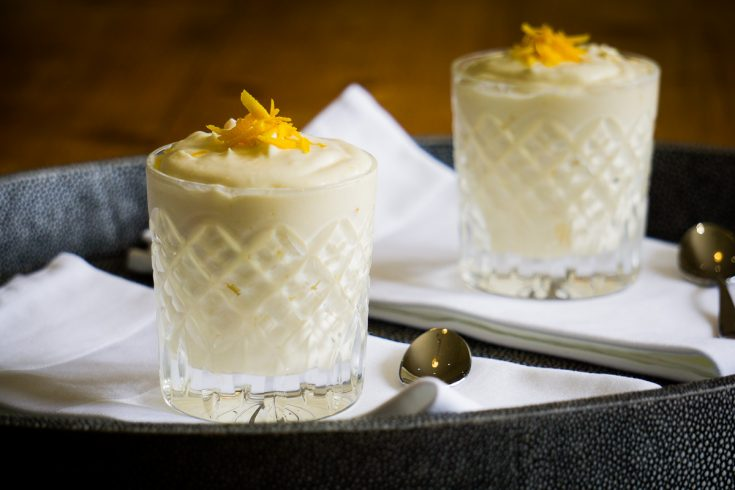 Caledonian Cream Recipe served in glasses on a tray