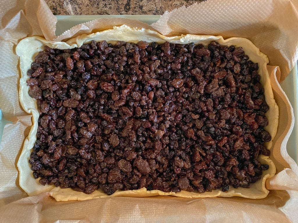 Fruit and pastry for Scottish Fruit Square recipe