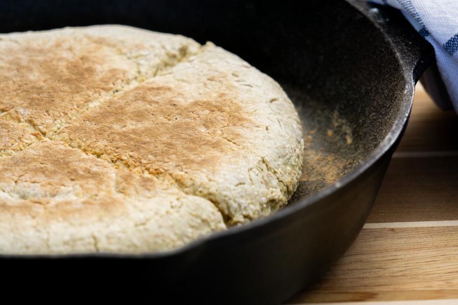 Scottish Bannocks baked in a Griddle or skillet