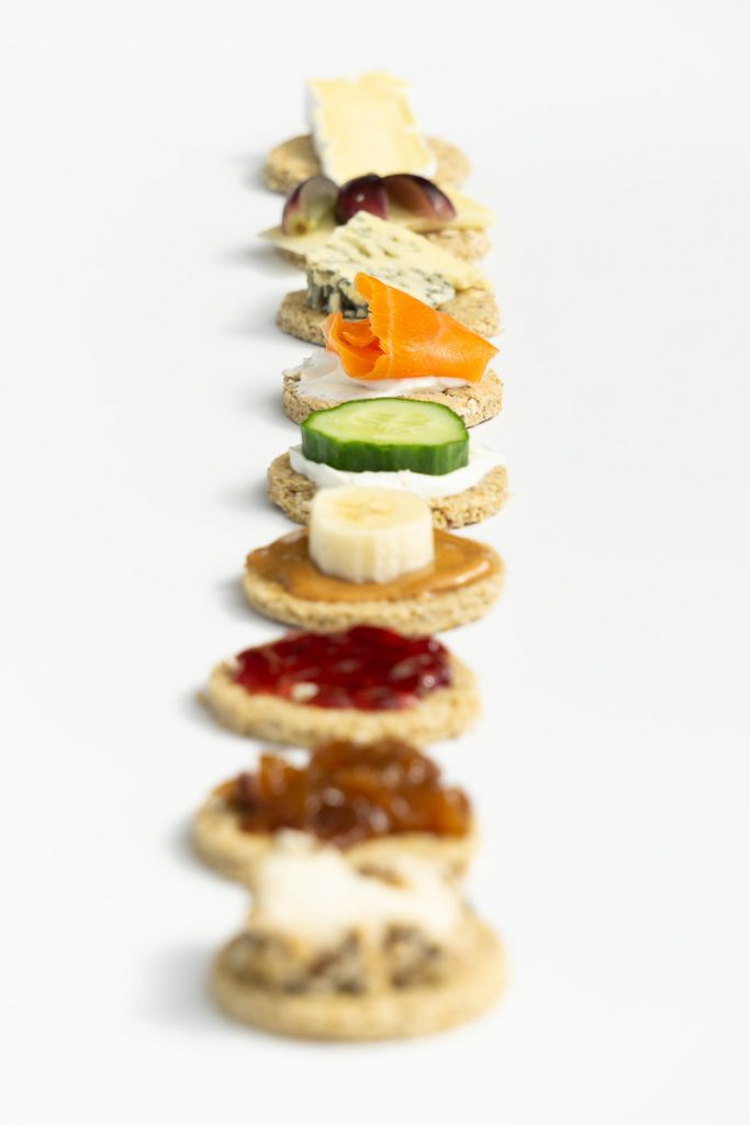 Scottish Oatcakes with toppings