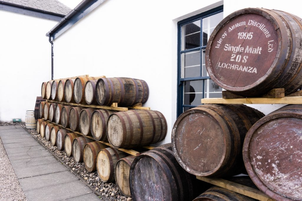 Scotch Whisky Barrels at the Isle of Arran Distillery