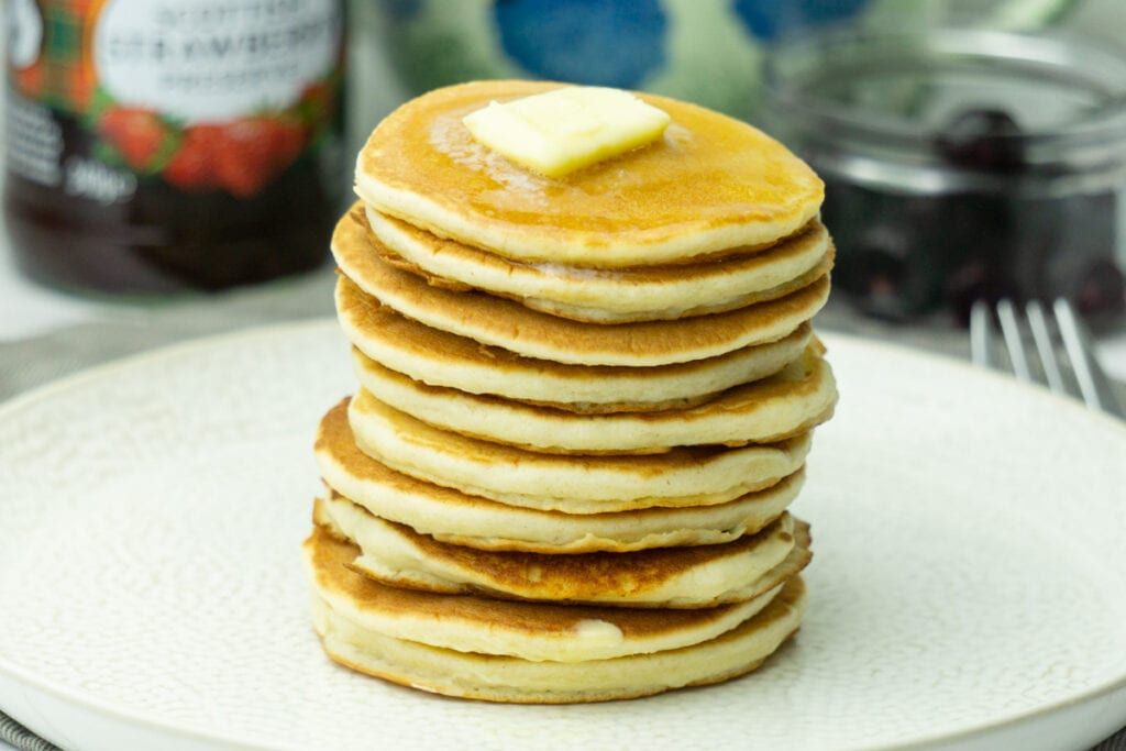 Stack of Scotch Pancakes with butter