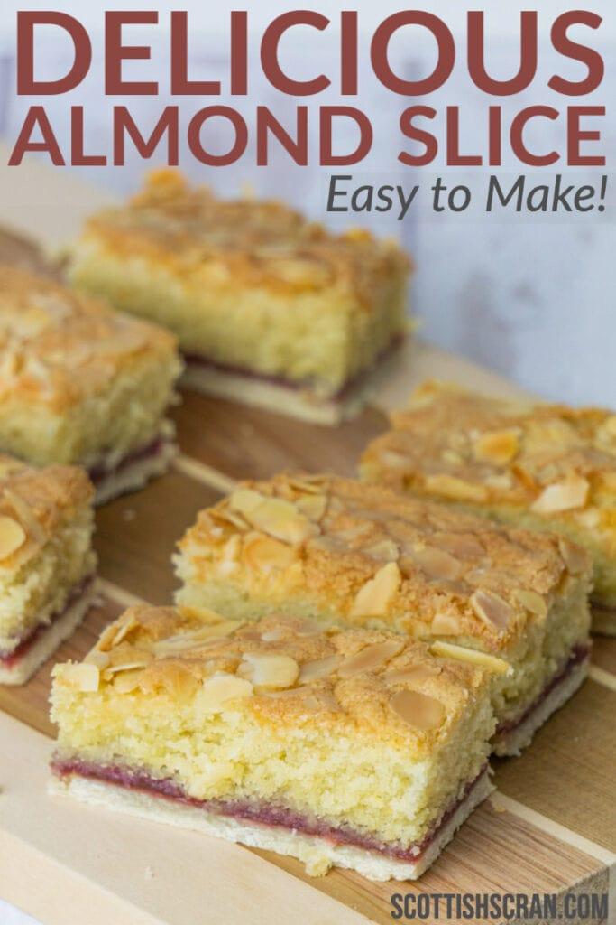 Delicious Almond Slice Recipe Pin