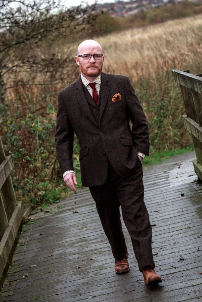 Gary Maclean - Scotland's National Chef and Masterchef Professionals winner walking in the countryside.