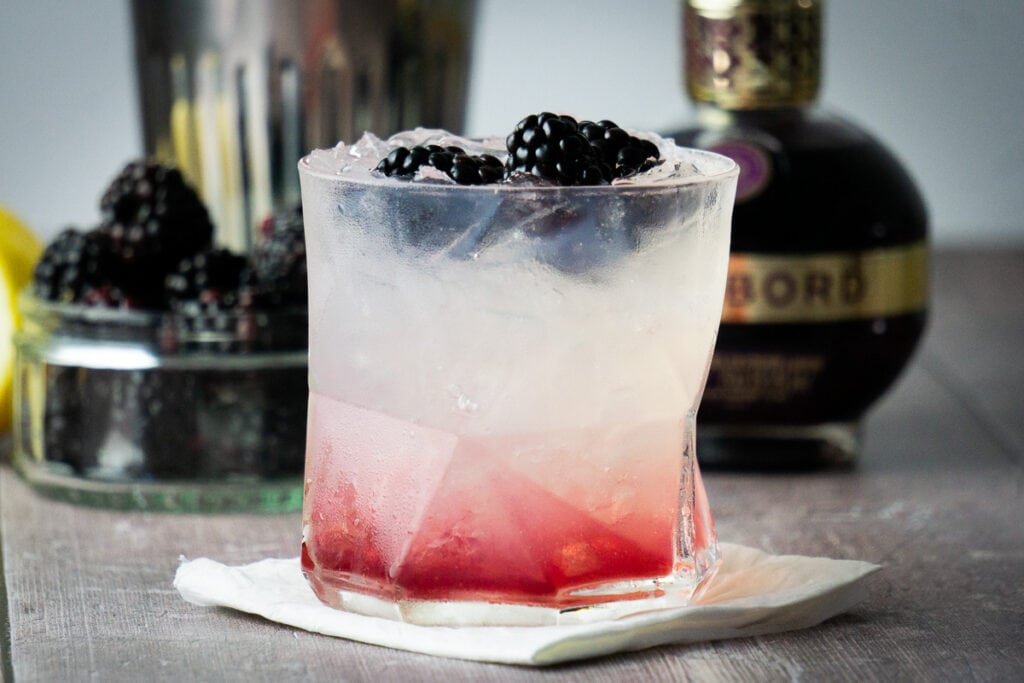 Chambord and Gin Cocktail - Pink Gin Cocktails