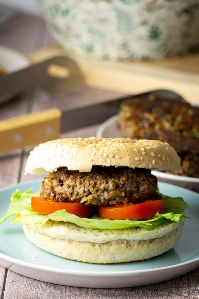 Haggs Burger on a plate