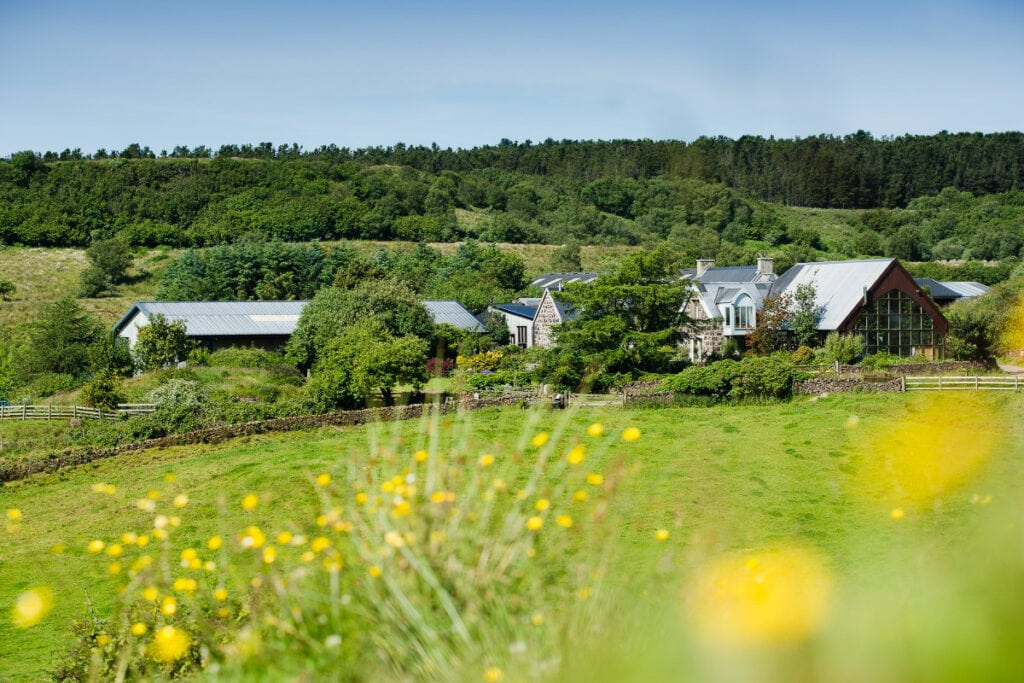 Isle of Mull Cheese Farm on a sunny day