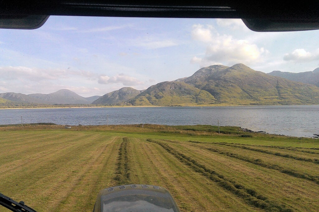View on the Isle of Mull Cheese Farm