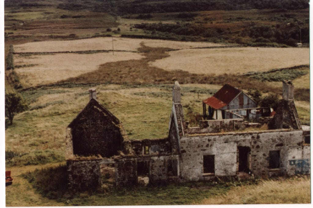 Ruins of the Isle of Mull Cheese Farm before restoration