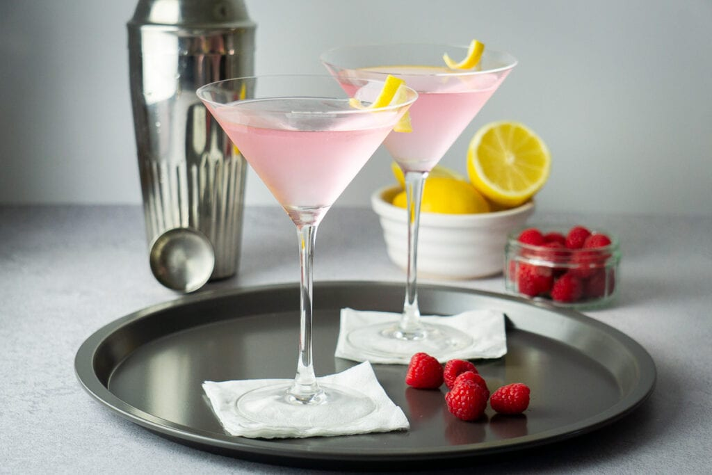 Pink Gin Martini - Pink Gin Cocktails